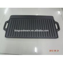 grelhadores retangulares para churrasco placas de grelha em ferro fundido