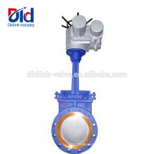 Instalación automatizada de la válvula de compuerta motorizada de acero al carbono abierta o cerrada de Check V Smith