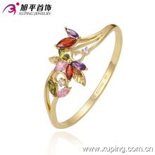 Moda Jóias 14k banhado a ouro flor colorido cubic zircônia bracelete