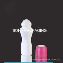 Botella plástica de la venta caliente con el rollo plástico en bola