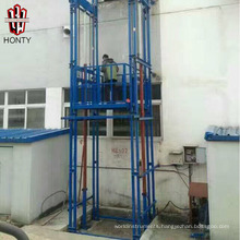 best selling goods lift design residential warehouse cargo hydraulic lead rail lift