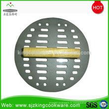 Presse à lard / fonte en fonte à cuisson ronde de haute qualité