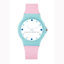 Colorful Plastic Watch with Silicon band for Kids