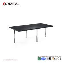 Table basse Orizeal Black Rectangle Long Chrome (OZ-OTB006)