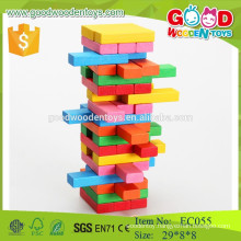 54pcs wooden OEM block jenga classic game with your logo