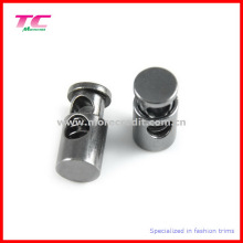 Custom preto metal níquel barril forma cordão fim