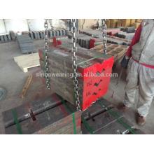 Ceramic insert blow bar blow bar impact crusher sapre parts