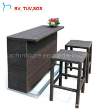 Ice Bar Furniture Wicker Chair Bar Rattan Table Sets (8024)