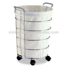 Sacs de rangement d'hôtel de lavage \ Panier de blanchisserie de Showerdrape sur des roues