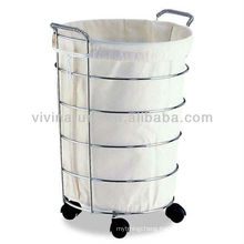 Hotel Washing Storage Bags\Laundry Showerdrape Laundry Basket on wheels