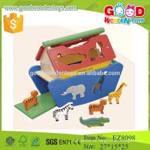 Juguetes de madera del animal del arca de Noah's del estándar CE