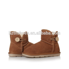 Warm kids ankle boots girls snow boots with button