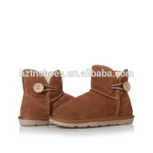 Calçados quentes tornozelo botas botas de neve meninas com botão