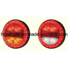 Round forma de LED parar de girar a luz da cauda para caminhões