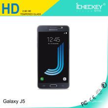 Hohe Qualität Konkurrenzfähiger Preis 2.5D Rand Hoch Transparenter Displayschutz aus gehärtetem Glas für Samsung J5, akzeptieren Sie Paypal