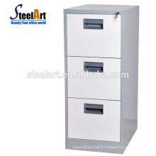 Mobilier de bureau en métal en métal walmart 3 tiroirs en métal