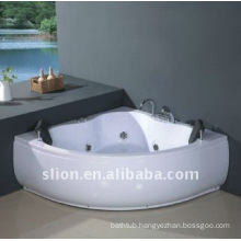 Indoor Corner Acrylic white Whirlpools spa bathtub
