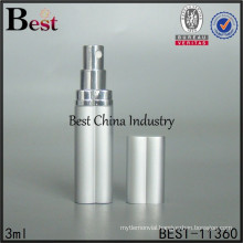 3ml perfume atomizer, silver atomizer spray bottle, mini glass tube
