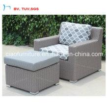 Sofa de meubles de jardin a placé le sofa simple avec l'ottoman (CF1372A)