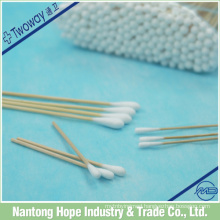 Disposable medical wood stick cotton swabs / cotton buds