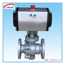 Pneumatic Actuator Industrial Flange Ball Valve