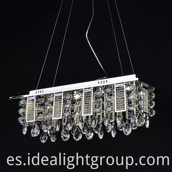 chrome pendant chandelier lighting