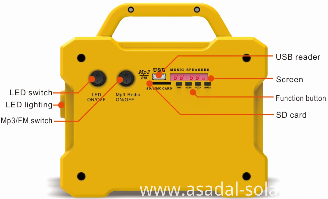 solar lighting system with MP3