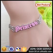 Цепи сплава мода Принцесса Браслет для женщин