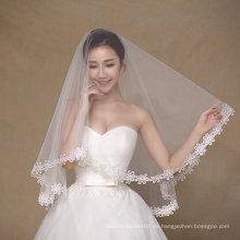 Finger Länge Einfache Design Eine Schicht Hochzeit Brautschleier