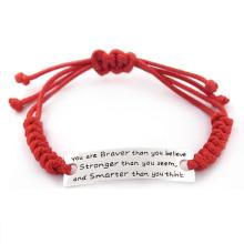Bracelet personnalisé gravé en acier inoxydable de 17 cm pour filles