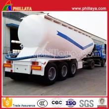Réservoir en acier de transport de poudre de chaux Réservoir semi-remorque en vrac de Bulker