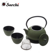 Cast Iron Enamel With Stainless Steel Infuser Teapot