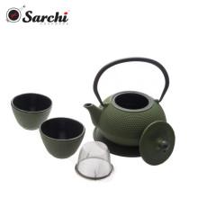 Esmalte de ferro fundido com utensílio de aço inoxidável Teapot