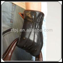 Nueva fábrica del guante de la manera de la cáscara del cuero del diseño 2012