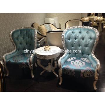 Hotel de lujo utilizado mesa pequeña pública con silla de café XYN2502