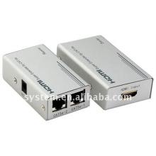 HDMI Super Extender par câble Cat-5E / 6, Cat5 x1, HDMI Extender à 60m