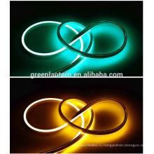 Электропитание ac110/220В ультра тонкая водоустойчивая Сид неоновая трубка свет гибкие светодиодные неоновое освещение