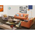 Color naranja diseño Simple tela sofá, sofá moderno (M619)