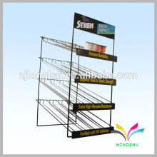 Fashion design metal black bottle retail equipment display racks