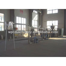 wood plastic granulating production line