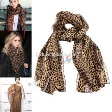 Leopardo bohemia moda moda pashmina xaile lenço muçulmano hijab
