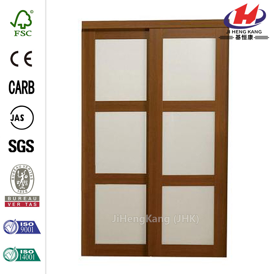 Sequoia Walnut Glass Aluminum Interior Sliding Door