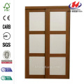Aluminum Half Frosted Glass Folding Door