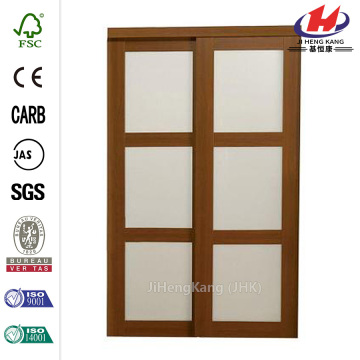 Composite Frosted Glass Composite Cherry Sliding Door