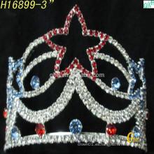 Nuevas tiaras nupciales nobles de la boda de la corona de la manera al por mayor