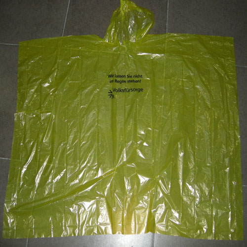 PE Material Poncho