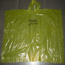 bright yellow color Waterproof Rain Poncho