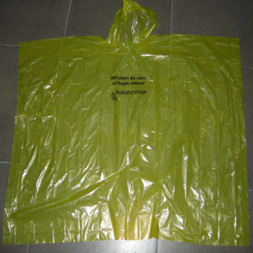 Poncho de lluvia impermeable color amarillo brillante