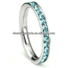 Heiße Verkaufseinzelteile Hochzeits-Ringe blaue Farbe CZ-Ringart und weiseschmucksachen