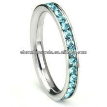 Venda quente itens Anéis de casamento azul cor CZ anel moda jóias